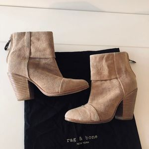 rag & bone Newbury Canvas Boots 37.5 in Camel